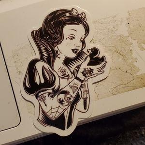 Punk snow white sticker